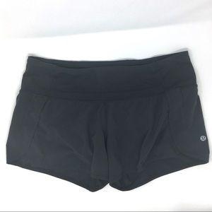 lululemon athletica speed shorts black size 8
